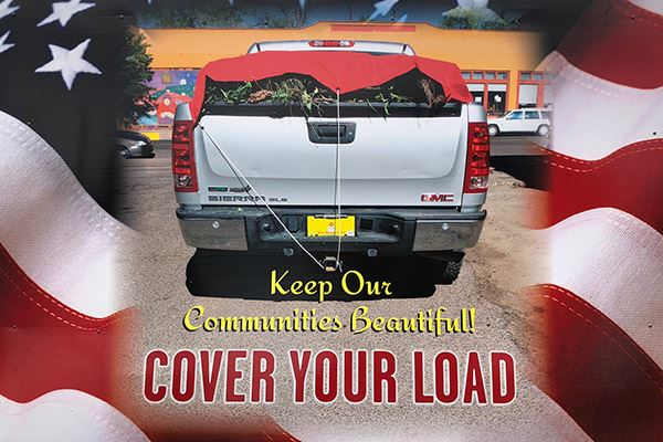 Cover Your Load with American Flag Background