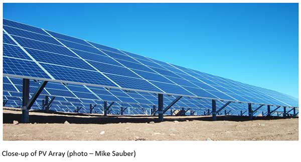 Close-Up of Large Photovoltaic Array