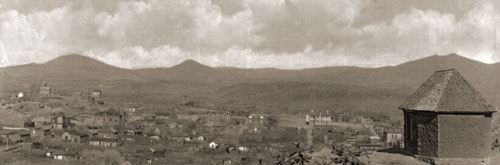 A view of Silver City in the 1880s
